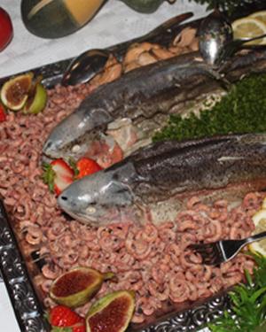 Gepocheerde zalmforel koud warm buffet Erasmus